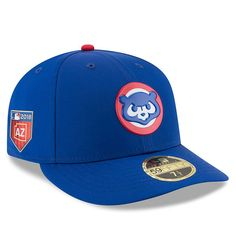 Men s Chicago Cubs New Era Royal 2018 Spring Training Collection Alt  Prolight Low Profile 59FIFTY Fitted Hat 10102c5bcf1