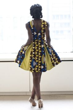 African Print on lovely dress