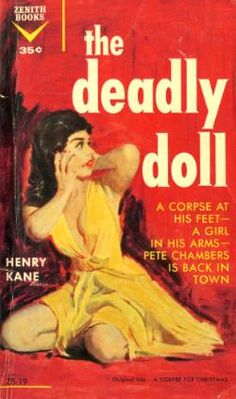 """Griffith Foxley/Denis McLoughlin """"A Corpse for Christmas""""; Henry Kane (1951) Dell 735, 1951 Cover art by Griffith Foxley T. V. Boardman &..."""