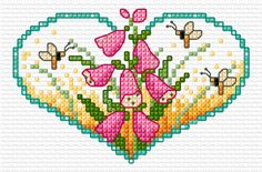 (^_^) FREE  Flower heart Foxgloves | Lesley Teare Thoughts on Design