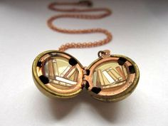 Library Locket  Stacks of Tiny Books Inside a by kharaledonne, $40.00