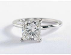 2.5 Carat Princess Cut Diamond Petite Solitaire Engagement Ring | Blue Nile Engagement Rings