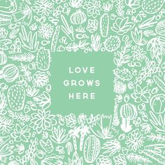 Love grows here! Look for this print at the small shop round up on Saturday. I'm loving the succulent and cacti trend. Im In Love, Cacti, Succulents, Frame, Illustration, Instagram Posts, Shop, Ideas, Cactus Plants