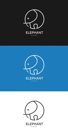 Simple elephant logo, icon symbol – Expolore the best and the special ideas about Logo branding Elephant Logo, Elephant Design, Elephant Icon, Logo Branding, Branding Design, Brand Identity Design, Corporate Branding, Logo Simple, Logo Design Simple