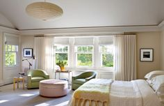 Contemporary Bedroom by Shelton, Mindel & Associates and Robert A.M Stern in East Hampton, New York