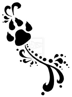 Dog print and cat print. More