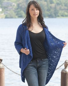 Looking for a cardigan to wear throughout the summer? Check out Summer Lace Wrap Cardigan by Vera Sanon, a free pattern knit from Cascade Yarns.