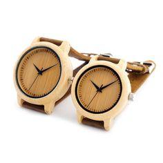 BOBO BIRD Lovers Minimalist Japanese Miyota Quartz Movement Bamboo Watch Handcrafted Wood Watches