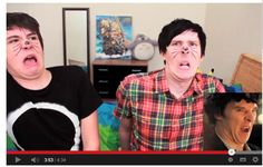 dan and phil doing bendict otterbatch faces