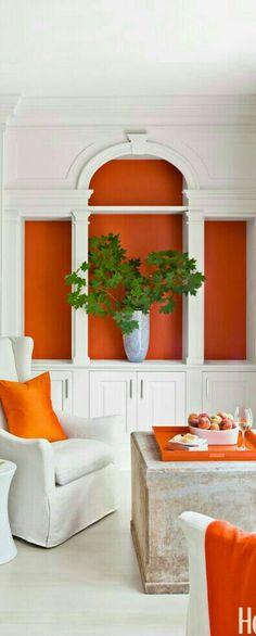 Orange Décor Home Remodeling Decorating Blogs Interior Design Color