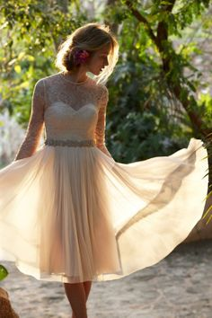 Waterfall Dress - I am loving this one.  I have over two years to lose the weight and get healthier,so I can actually not look like a bloated cow on my wedding day. -LK