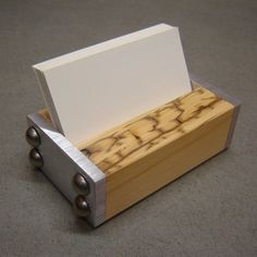 Business Card Holder Industrial Style in Wood by andrewsreclaimed, $33.00