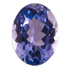 Oval 7 x 5mm Tanzanite Faceted Stone, AA-Grade Tanzanite, a blue zoisite, is trichroic--it often exhibits different colors when seen from different directions. These stones are cut to show the orientation of deep blue to violet-blue colors.