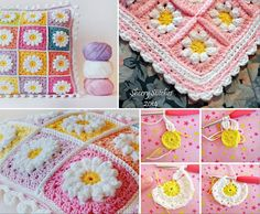 Crochet Daisy Granny Square Free Patterns
