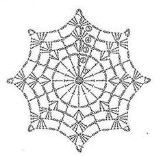 crochet mandala pattern T ii motif rnekleri ve emalar Motif Mandala Crochet, Crochet Snowflake Pattern, Crochet Stars, Crochet Snowflakes, Crochet Round, Thread Crochet, Irish Crochet, Crochet Doilies, Crochet Flowers