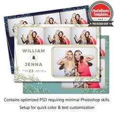Classy Act Postcard Photo Booth Template Photobooth Layout, Photobooth Template, Hipster Wedding, Wedding Templates, All Fonts, Photoshop Elements, Text Color, Photo Booth, The Creator