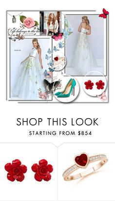 """""""Sherri Hill 50196 Two Piece Princess Floral Prom Gown"""" by stylishpromgown ❤ liked on Polyvore featuring Sherri Hill, Chanel, Christian Louboutin and Chrome Hearts"""