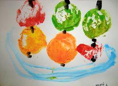Jablíčka Watermelon, Fruit, Painting, Painting Art, Paintings, Painted Canvas, Drawings