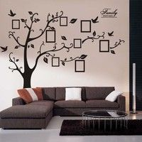 Home 3d Diy Photo Tree Pvc Wall Decals Adhesive Wall Art
