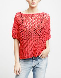 Love this loose weave summer sweater