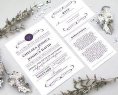 Design Fee - Modern Wedding Invitation Suite with Monogram and Swirls - Custom Printable Design for a Vintage, Rustic, or DIY Wedding on Etsy, $40.00