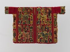 Miniature Tunic with Staff Bearers, ca. 800–850 Peru, south highlands, Wari style Camelid hair, cotton; tapestry weave; 6 1/4 x 10 1/4 in. (16 x 26 cm) Private Collection