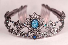 Custom Blue Crystal Tiara by Rabbitwood and Reason on Etsy