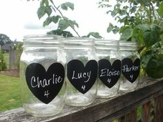 Featured on Etsy Wedding Trends 24 DIY Heart Chalkboard Vinyl Drink Labels Place Settings. $14.00, via Etsy.