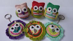 Dutch Love the small owls Owl Crochet Patterns, Crochet Birds, Owl Patterns, Crochet Bear, Amigurumi Patterns, Crochet Animals, Crochet For Kids, Crochet Designs, Crochet Flowers
