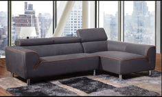 Diamond Impulse 2 Pcs Sectional SofaMaterial: FabricColor: Grey
