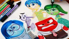 INSIDE OUT Drawing Riley's Emotions Sadness Fear Joy Anger & Disgust #insideout #pixar #disney