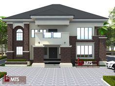 House Outer Design, House Roof Design, Home Building Design, Modern House Design, Duplex House Plans, Modern House Plans, Single Storey House Plans, House Design Pictures, Modern Bungalow House