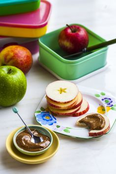 Hemsley+Hemsley Apple Slices with Nut Butter. Photography Nick Hopper for Red Magazine