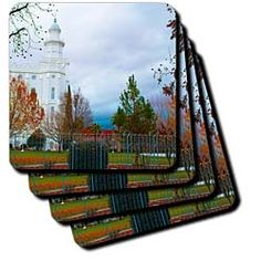 Colorful Holiday Decorations at the St. George, Utah Temple Coaster