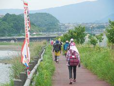 早岐瀬戸沿いの遊歩道
