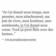 Follow me for more great pins ☺️ : Belja06 Bad Quotes, Text Quotes, Words Quotes, Regrette Rien, French Quotes, English Quotes, Citation Sentiment, Some Words, Regrets