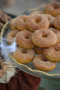 Fall flavors come together in these gluten-free pumpkin spice donuts. They are easy and delicious.