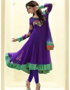 Touch Of Luxury Purple Suit Item code : SLKDH239  http://www.bharatplaza.com/womens-wear/readymade-suits/anarkali-suits/touch-of-luxury-purple-suit-slkdh239.html