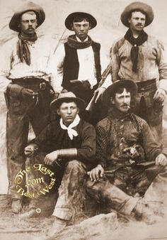 A group of cowboys taking a break for the camera, circa 1890. Notice every one of them is smoking!