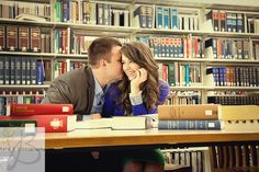Jessica Clark Engaged   .   .  . BYU Law Library (and beyond)