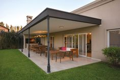 Pergola For Small Backyard Pergola Carport, Outdoor Pergola, Pergola Lighting, Cheap Pergola, Exterior Lighting, Casa Patio, Patio Roof, Carport Designs, Casas Containers