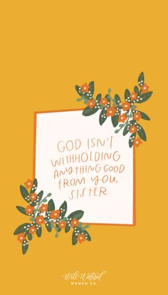 God isn't withholding anything good from you, sister. Bible Verses Quotes, Faith Quotes, Wisdom Quotes, Scriptures, Scripture Wallpaper, Jesus Wallpaper, In Christ Alone, Spiritual Inspiration, God Is Good