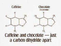 i f love science caffeine - caffeine and chocolate