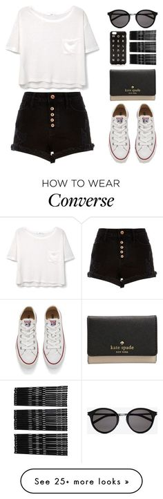 """theres a million words i shouldve said"" by nicnery on Polyvore featuring MANGO, River Island, J.Crew, Kate Spade, Yves Saint Laurent, Monki and Converse"
