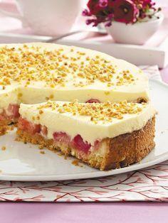 Rhabarber-Creme-Torte #Rezept
