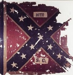 16TH SC INFANTRY CSA FLAG