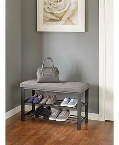 Neatfreak Fabric Upholstered Shoe Storage Bench & Reviews - Cleaning & Organization - Home - Macy's
