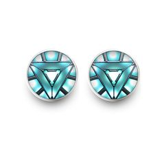 Arc Reactor Earrings Iron Man Earrings Stud Jewelry (with jewelry box) ($6.90) ❤ liked on Polyvore featuring jewelry, earrings, earrings jewellery, studded jewelry, i love jewelry, earring jewelry and stud earrings