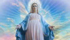 O Augusta Regina del Cielo e Sovrana degli Angeli, a te che hai ricevuto da Dio il potere e la missione di schiacciare la testa a Satana, noi chiediamo umi