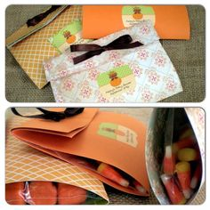 Fall Party Favor Bags